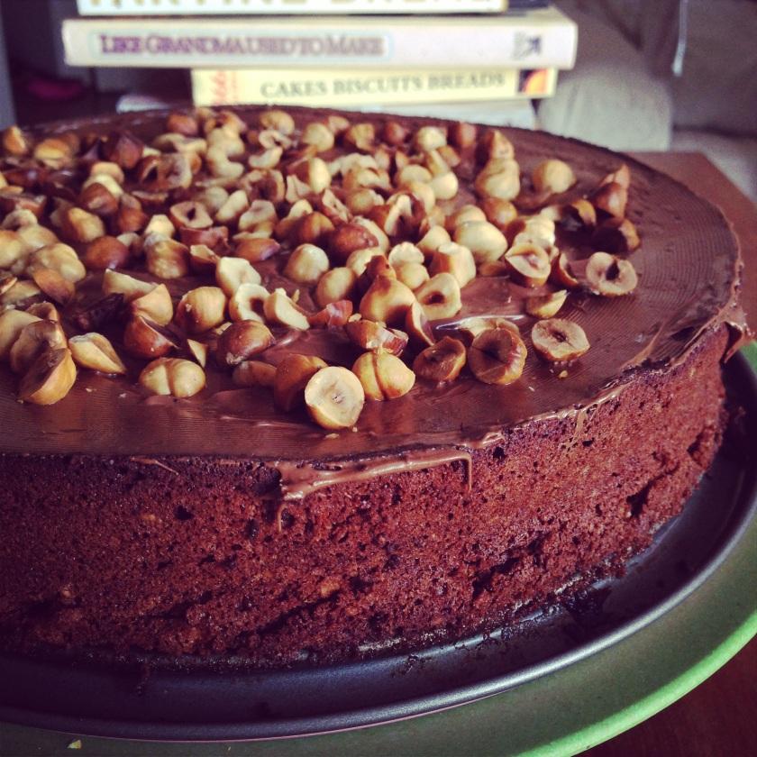 Резултат со слика за Chocolate and hazelnut cake (Torta gianduia)