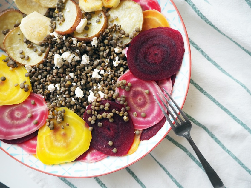 Puy Lentil Salad with Root Vegs