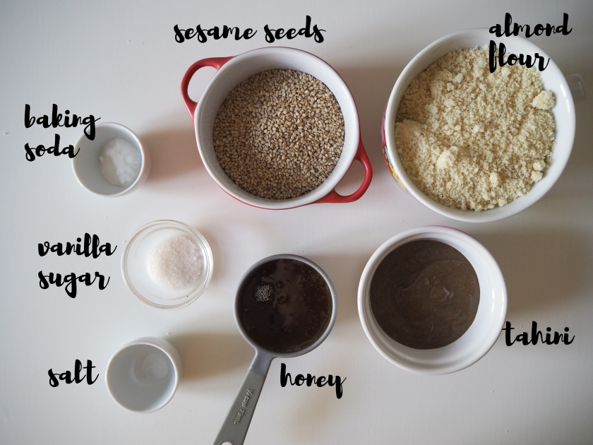 Honey Tahini Cookies - Ingredients