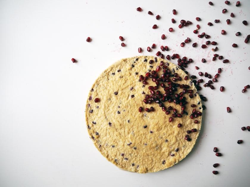 Raw Cake With Pomegranate Seeds - B