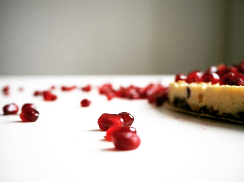 Raw Cake With Pomegranate Seeds - D