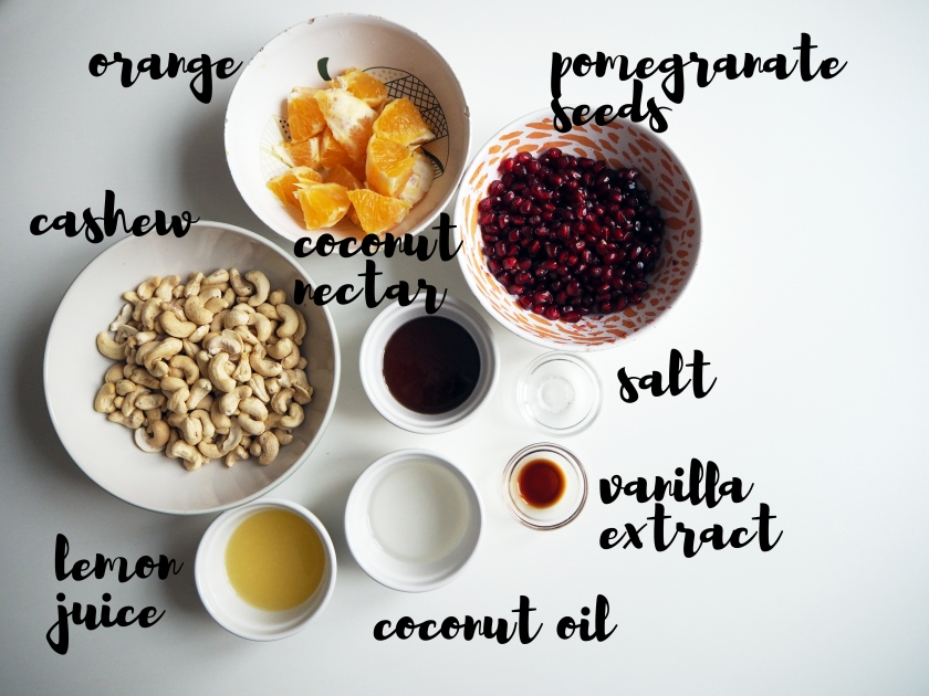 Raw Cake With Pomegranate Seeds - ingredients 2