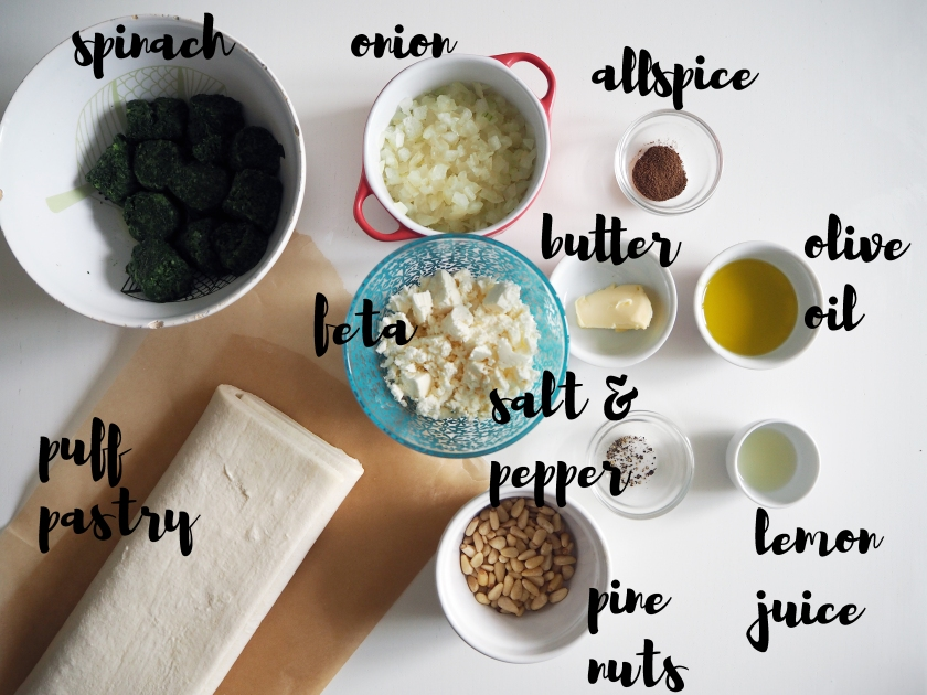 Spinach Pastry - Ingredients