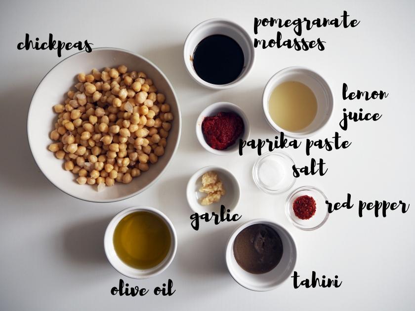 Pomegranate Hummus - ing