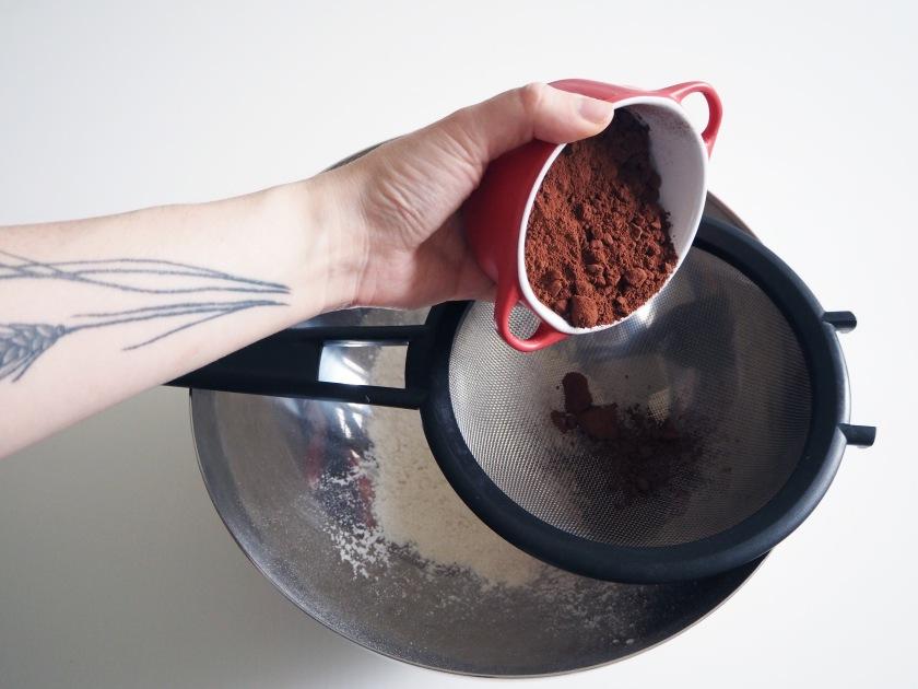 Chocolate Zucchini Spelt Cake - 2B