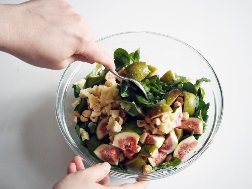 Fig and Hazelnut Salad
