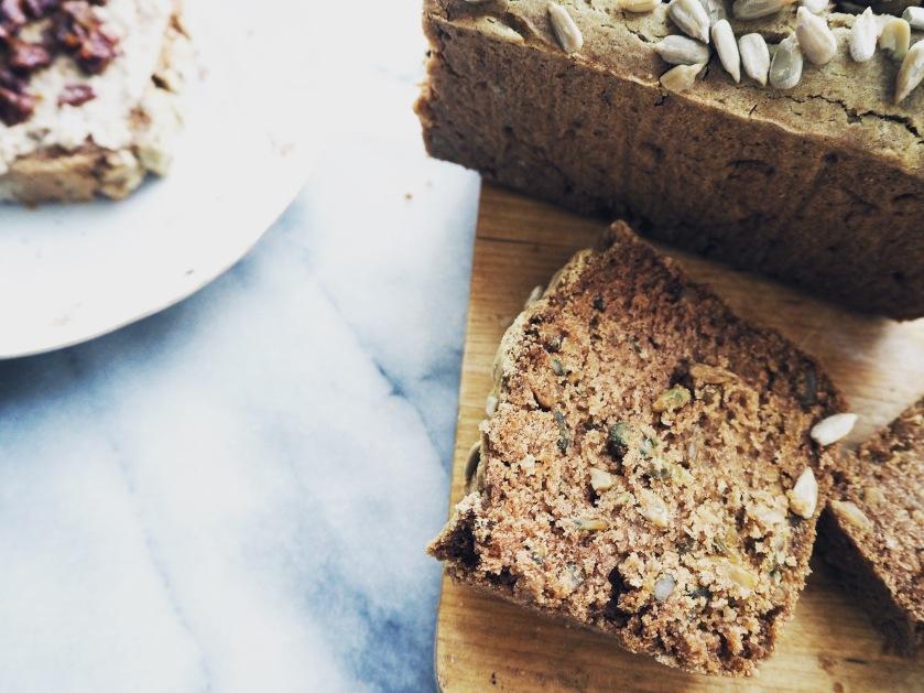 Buckwheat Bread and Black Eye Hummus