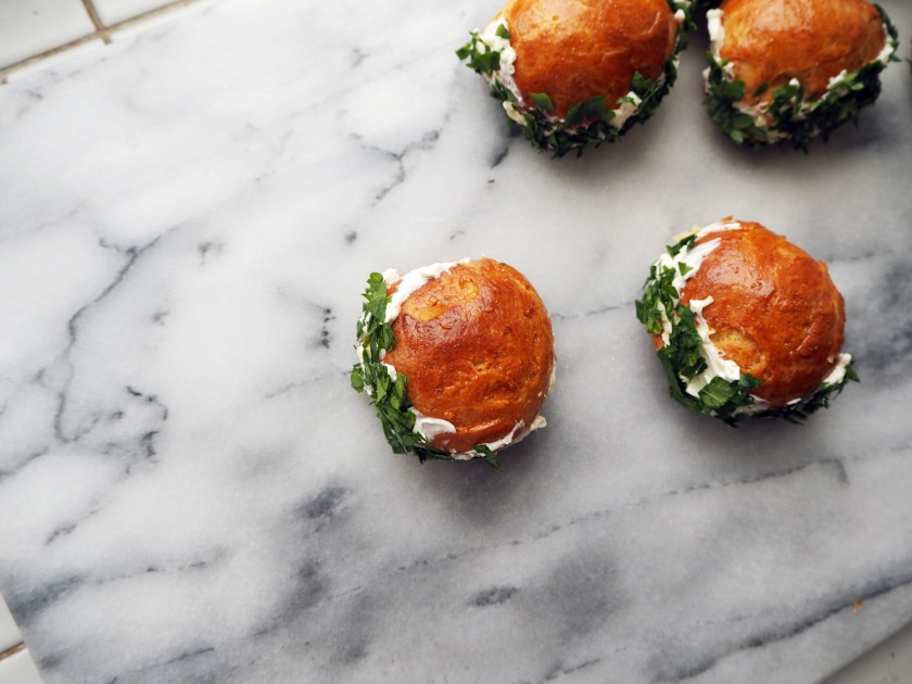 Brioche Buns With Cheese And Parsley