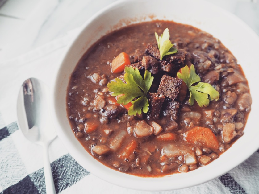 Puy Lentil Soup With Fennel, Carrots And Chestnuts