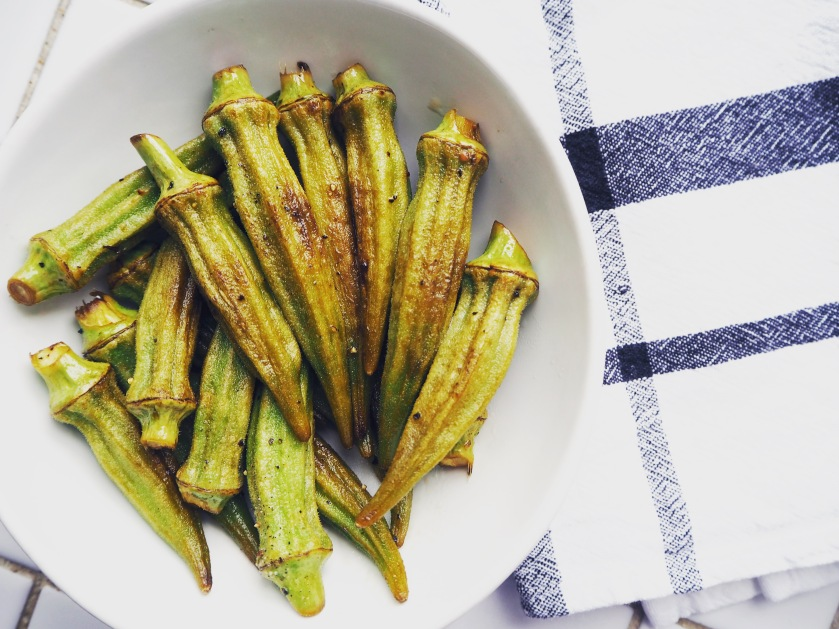 Vegan Monday Pan Fried Okra Crunchy Lemony And Lovely My Dear Kitchen In Helsinki
