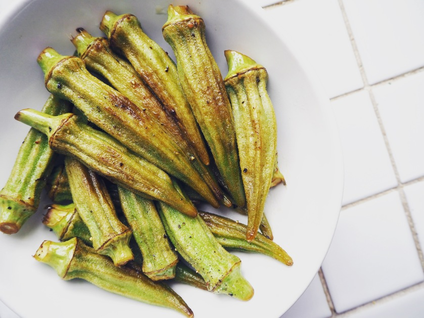 Pan-fried Okra